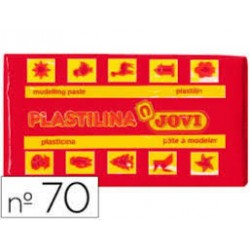 PLASTILINA 70 ROJO PEQUEÑA